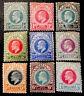 South Africa Natal King Edward VII 1902/03 pt MINT SET x9 stamps LH