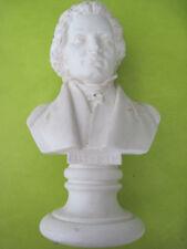 Beethoven , statuette avec base env. 24 cm,  Blanc .  n° 601