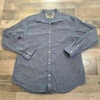 Banana Republic Soft Wash Slim Fit Mens XL Button Down Blue Striped Dress Shirt