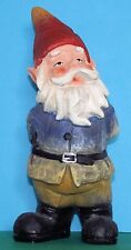 Gnome garden ornament - curious. Height 22 cms (8.75ins) (With box)
