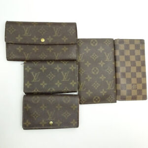 LOUIS VUITTON purse wallet 5-piece set Summary Monogram Damier M61730 M61725