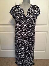 Talbots Navy White Short Sleeve Floral Dress *missing belt Size 6