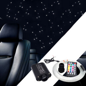 12V Audio Fiber Optic Star Lamp Headliner Roof Ceiling Light 300 Points RGBW 1PC