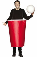 Brand New Red Beer Pong Cup Adult Halloween Costume
