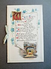 Vintage NEW YEAR Card Within Your Chimney Corner Kindle Love's Sweet Fire Bright