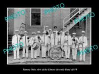 OLD LARGE HISTORIC PHOTO OF ELMORE OHIO, THE ELMORE JUVENILE BAND c1910