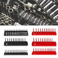 "1/4"" 3/8"" 1/2"" Metric Socket Tray Rack Holder Storage Tool Organizer Plastic 1Pc"