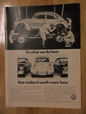 1972 Print Ad Volkswagen VW Bug Beetle Automobile Car ~ It's What We Do Here