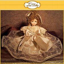 Bambola 22cm c'era una volta bambole doll doily macramè ARTIGIANATO capodimonte