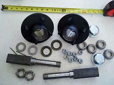 "TRAILER AXLE KIT 2000 lbs 4 on 4"" Idler Hubs SQUARE Spindle FREE SHIPPING!"
