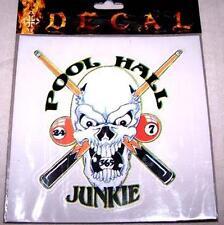 POOL JUNKIE CAR WINDOW DECAL billards vinyl sticker 05 novelty items billard new