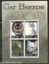 UNION  ISLAND 2013 CAT BREEDS  SHEET  I  MINT NH
