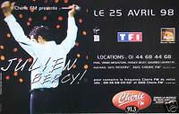 PUBLICITÉ CHÉRIE FM PRÉSENTE JULIEN CLERC A BERCY AVRIL 1998