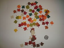80 MARTHA STEWART MAPLE LEAF LEAVES IN 10 COLORS DIE CUTS PUNCHES CONFETTI