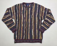 Vintage 90's Men's Medium Roundtree & Yorke Coogi Cosby Style Textured Sweater