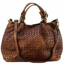 BZNA Bag Rene cognac Italy Designer  geflochten Damen Handtasche Schultertasche