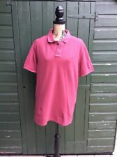 FAT FACE - MEN'S 100% COTTON TUSCAN RED S/SLEEVE POLO SHIRT - UK SIZE L BUY IT