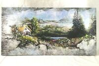 Original Landscape Painting Digital And Mixed Media Cottage By The Loch SIGNED