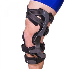 """New"" DeRoyal Functional ACL Knee Brace: Right, Large, Black, Low Contact"