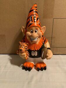 "Cincinnati Bengals NFL Garden Team Gnome 10.5"" Forever Collectibles Brand New"