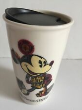 Disney Parks Starbucks Mickey Hollywood Ceramic Coffee Tumbler Travel Mug New