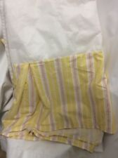 "Ralph Lauren bedskirt King yellow white candy stripe 16"" drop split corners #6"