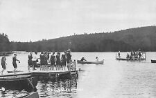 Real Photo Postcard Women in Bathing Suits w/ Canoes at Camp Accomac~110753