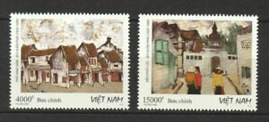 VIETNAM 2020 PAINTINGS HA NOI OLD TOWN COMP. SET OF 2 STAMPS IN MINT MNH UNUSED
