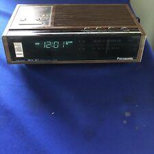 Vintage Panasonic AM/FM Digital Alarm Clock Radio RC-6140 Tested Used