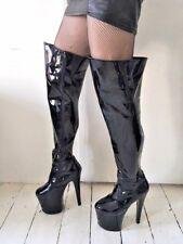 Mega-Sexy Overknee Stiefel HIGH-HEEL Xtreme Gr. 43 LACK HOT!! Plateau