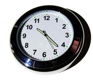 "NEW! British made Time-Rite ""Sixty-Plus"" Car Dashboard Clock - White Clock"