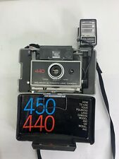 Vintage Polaroid 440 Automatic Land Camera Timer With Hard Carrying Case Manual
