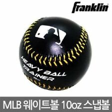 Franklin MLB Heavy Ball Weighted Snap Baseball Black 10oz Training Tools_IA