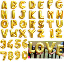 """16"""" LETTER Foil Number Balloons Air Baloons Large Happy Birthday Party Ballons"""