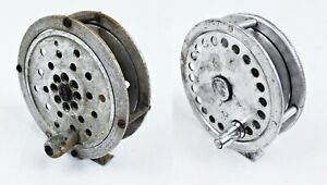"""Pair Of Unmarked 3.5"""" & 3 5/8"""" Aluminum Fly Reels"""