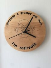 Retirement clock Grumpy old man