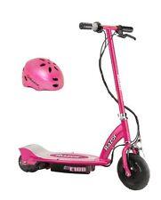 Razor E100 24V Motorized Electric Girls Scooter & Youth Sport Helmet - Pink