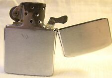 Vintage Zippo 1961 Brushed Chrome Classic Flip Top Lighter Sparking Well B