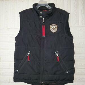 Tom Tailor Black Red Demand Comfort Mens Full Zip Vest Puffer Jacket Size L
