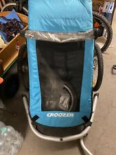 Croozer Kid for 1 Türkis-Blau guter Zustand Kinderfahrradanhänger +Jogger-Rad