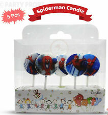 SPIDERMAN Birthday Cake Candles Topper Party Decor Supplies