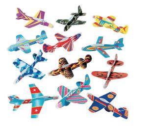 24 x Foam Flying Gliders Plane Aeroplane Kids Children DIY Toys Classroom