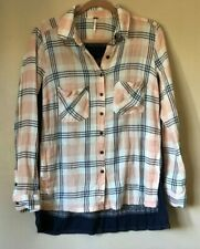 Free People Flannel Button Down Top XS