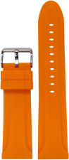 24mm Panatime Orange Waterproof Silicone Diver Watch Band 125/75 24/22