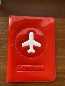 """Passport Cover, """" Happy Flight"""", Rot, Neu"""