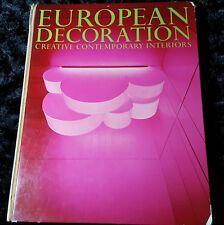 1969 European Decoration Creative Contemporary Interiors GEORGES BERNIER-L'oeil