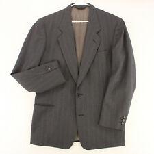PIERRE CARDIN Vtg 90s Gray Striped Blazer Sport Coat Suit Jacket Men's 44L