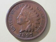 1897 Indian Head cent - Almost Uncirculated cond (4 Diamonds) - Collectible