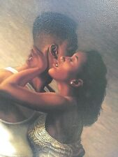 "Jay Bakari Allen Lithograph Art Print On Canvas ""SENSUOUS WHISPER"""