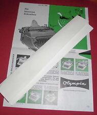 dachbodenfund prospekt blatt olympia werke schreibmaschine reklame 1958 top deko